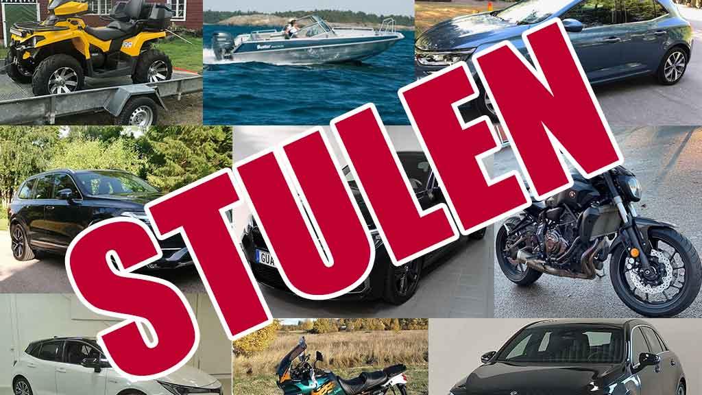 Efterlysning: Stulna fordon - Hundra12.