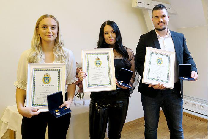 Saga Helin, Johanna Karlsson och Olle Axelsson.