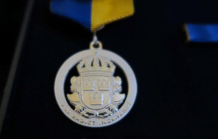 Medborgarmedaljen i silver kan delas ut till personer som visat särskild rådighet vid ett ingripande.