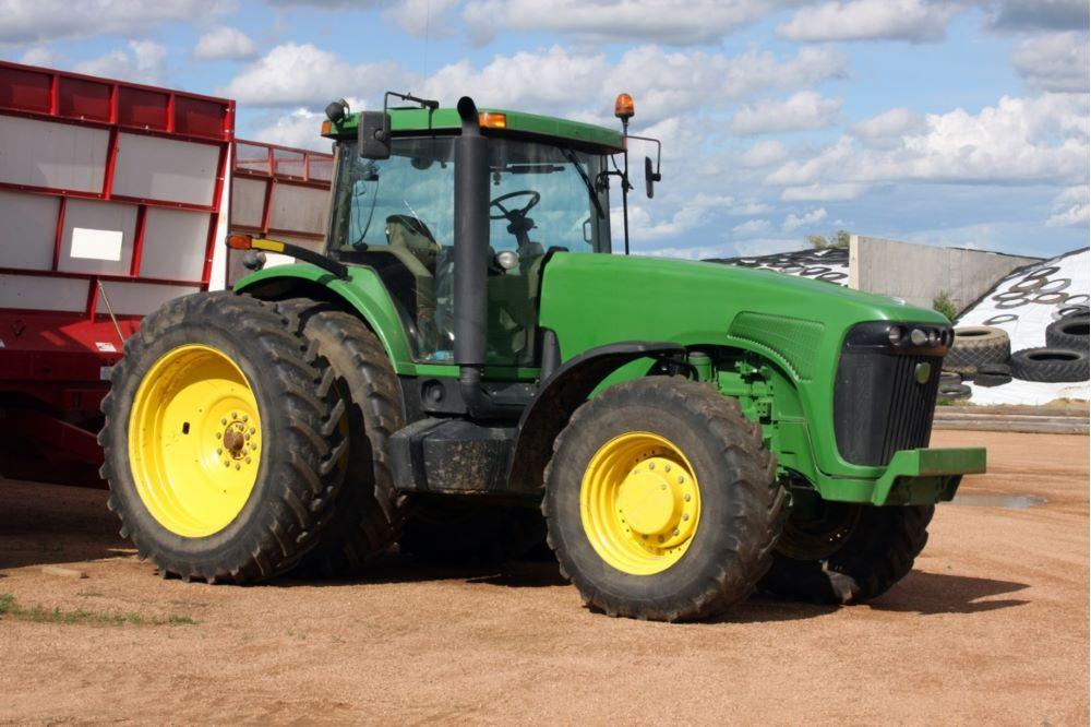 Grön traktor2