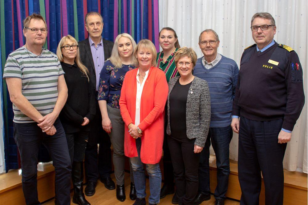 Gruppbild på den nya ledamöterna i regionpolisråd Väst.