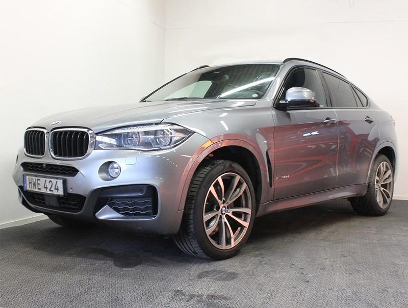 Grå metallic BMW X6 Xdrive 3.0D stulen i Karlskrona