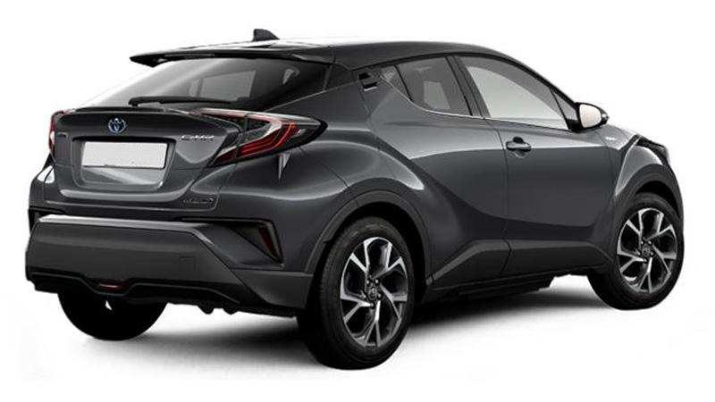 Mörkgrå Toyota C-HR stulen i Lund