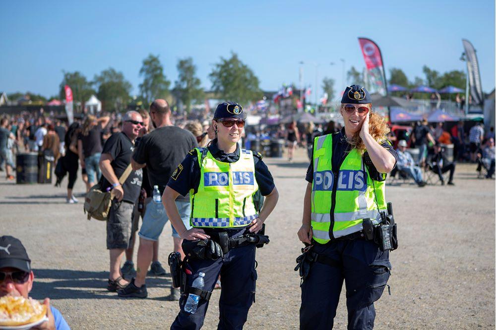 Polisen på Sweden Rock Festival 2019.
