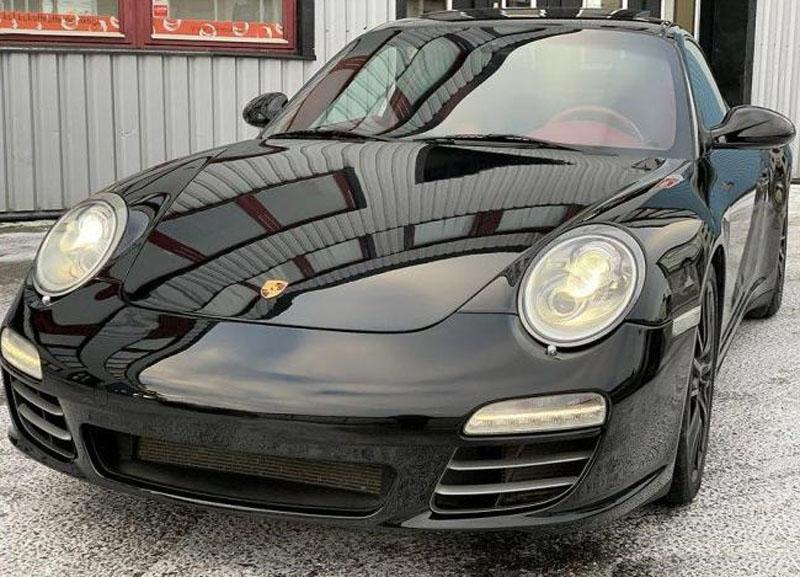 Svart Porsche 997/ 911 Carrera 4S stulen i Rotebro, Sollentuna norr om Stockholm