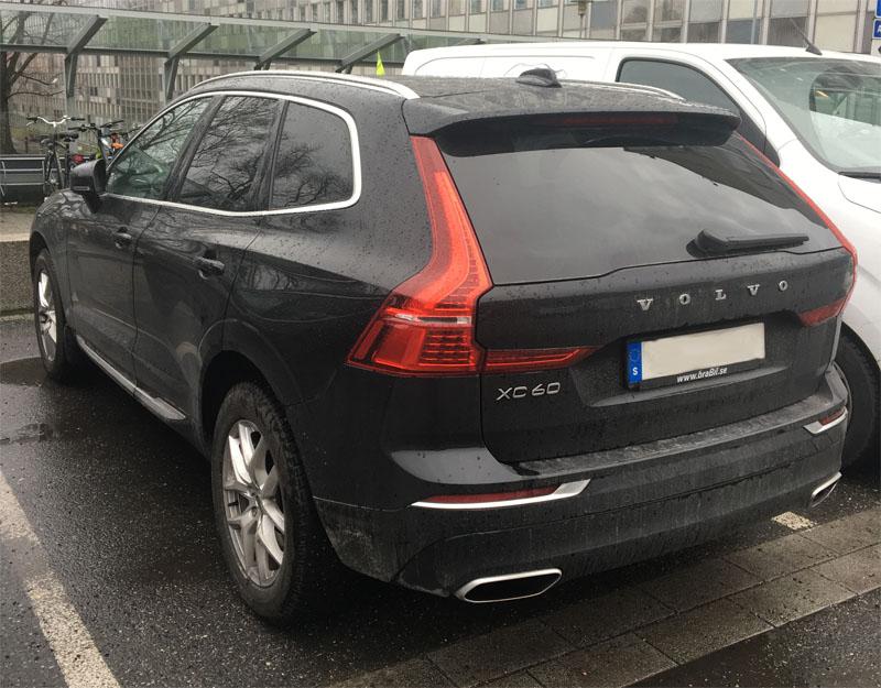 Svart Volvo XC60 D4 AWD stulen i Hässlegården strax norr om Karlskrona