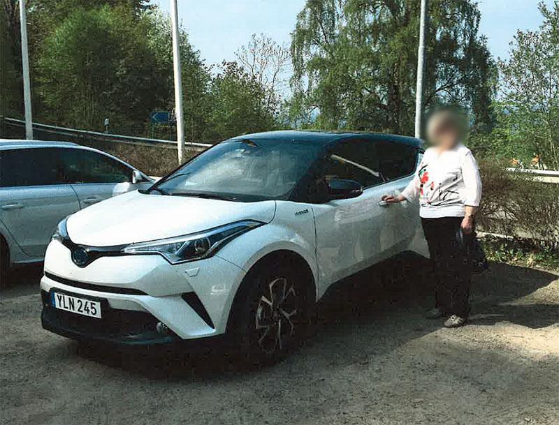 Vit Toyota C-HR stulen i Viken norr om Helsingborg