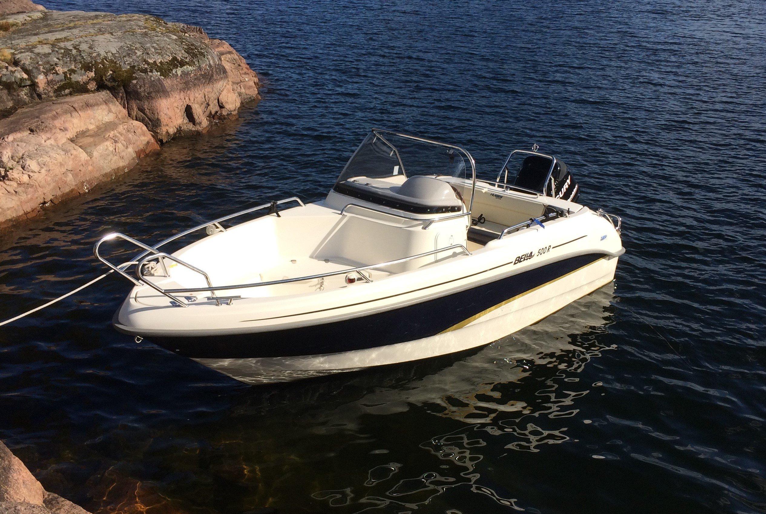 Bella 500 R med 75 Hk Mercury Optimax stulen i Tranås