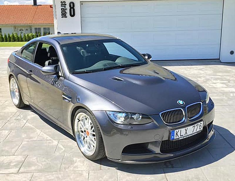 Gråmetallic BMW M3 Coupé E92 stulen i Kristianstad