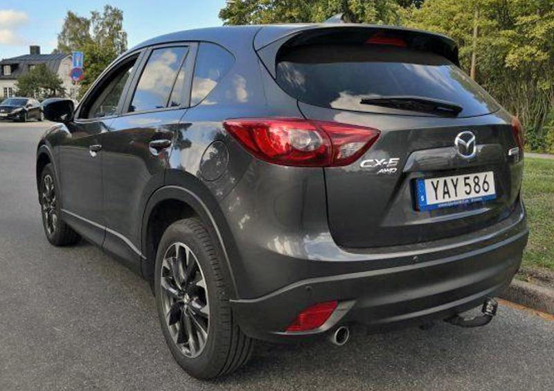 Gråmetallic Mazda CX-5 2.2 AWD stulen i Malmö