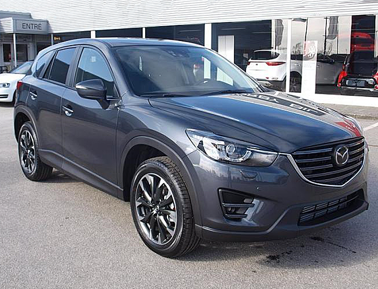 Gråmetallic Mazda CX-5 2,5 AT Optimum AWD stulen i Höör
