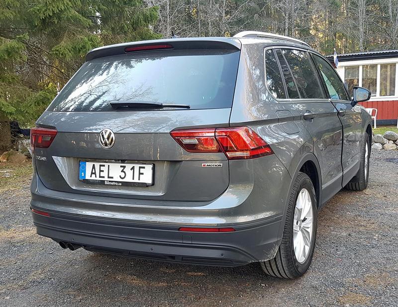 Gråmetallic Volkswagen Tiguan 2.0 TSI 4Motion stulen i Huskvarna