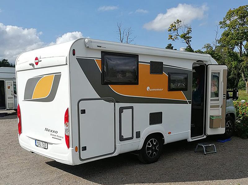 Husbil Fiat Bürstner Nexxo T6903 stulen i Nyköping