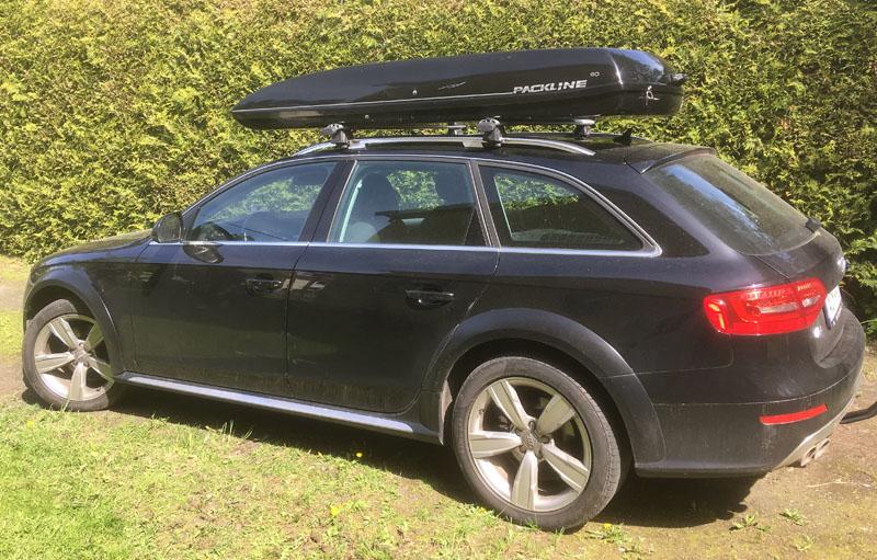 Svart Audi A4 Allroad Quattro stulen på Lidingö efter villainbrott