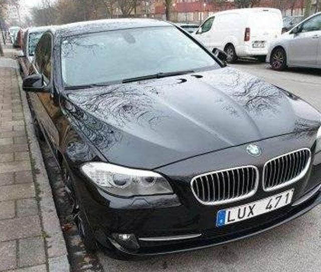 Svart BMW 528i Sedan stulen i Malmö
