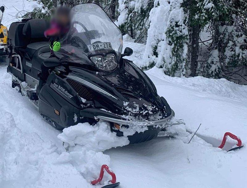 Svart Yamaha RS Viking stulen i Indal nordväst om Sundsvall