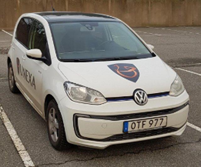 Elbil Volkswagen E-UP! stulen i Hisings Backa