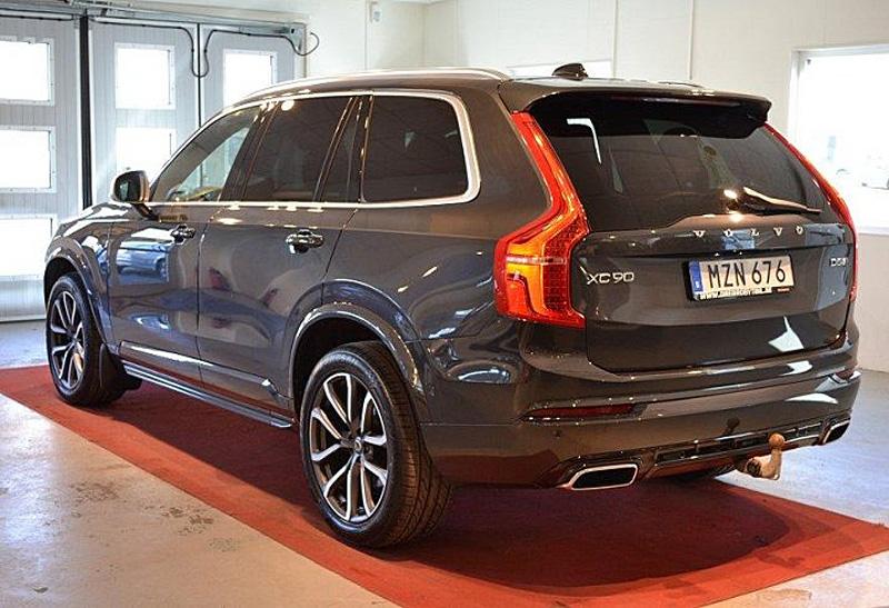 Gråmetallic Volvo XC90 D5 AWD R-Design stulen i Katrineholm