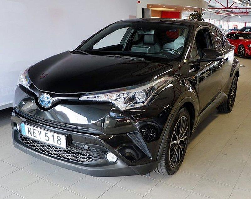 Svart Toyota CH-R stulen i Gustavsberg öster om Stockholm
