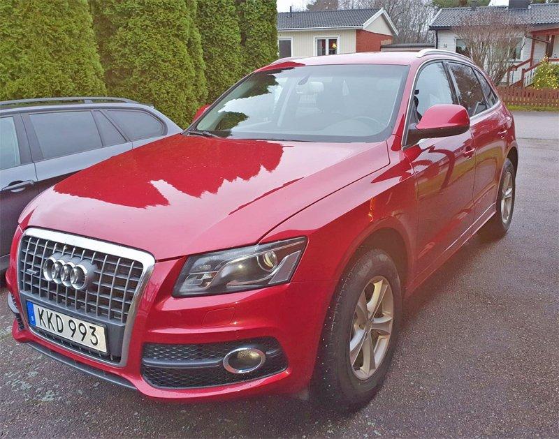 Röd Audi Q5 2.0 TDI Quattro stulen i Skutskär öster om Gävle