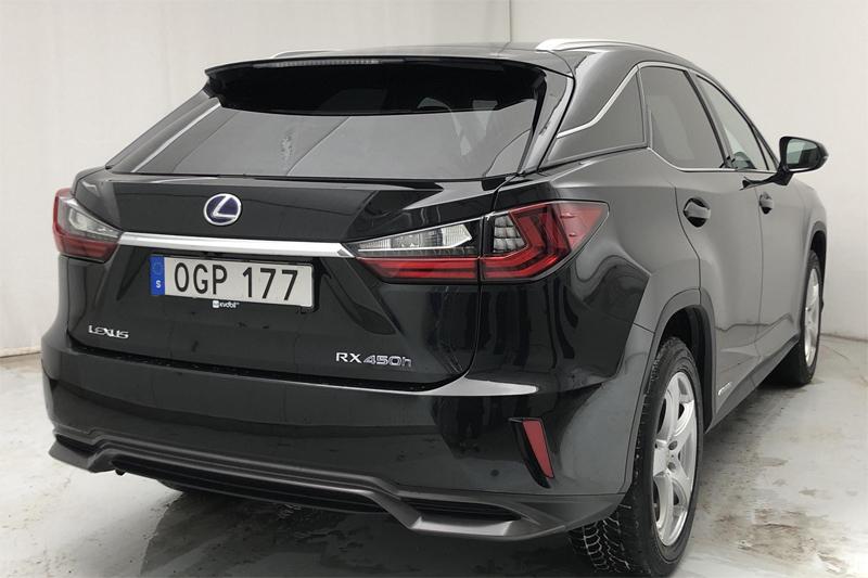 Svart Lexus RX450H AWD Comfort stulen i Uppsala