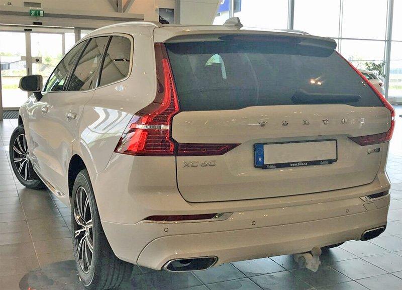 Vit Volvo XC60 D4 AWD Inscription stulen i Lomma norr om Malmö
