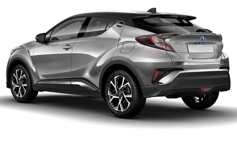 Silvergrå metallic med svart tak Toyota C-HR stulen i Höör