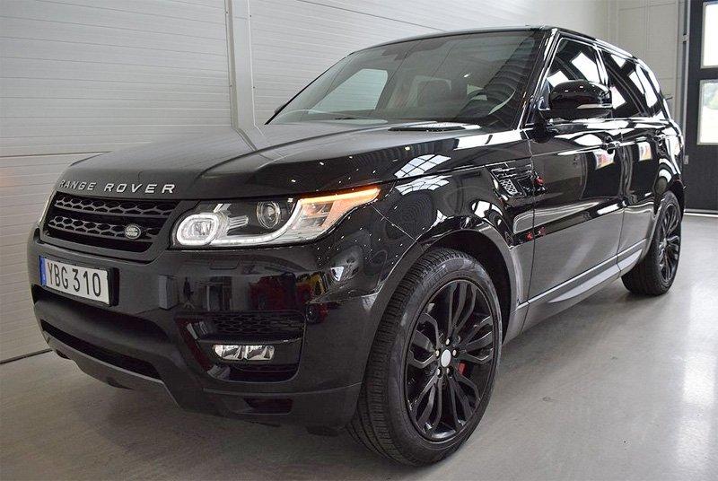 Svart Range Rover Sport stulen/ bedrägeri Kungsängen nordväst om Stockholm